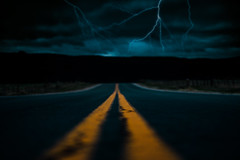 Storms Within... (miss.interpretations) Tags: storm lightning clouds darkness thunder brave courage road roadphotography rachelbrokawphotography faceyourfear innercourage growth introspection journey journeyoflife pavement yellow evening night low light shadows deepthoughts 2019 goals believe faith travel canon