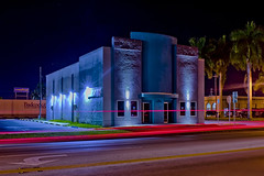 Dixie Crystal Theatre, 100 E Sugarland Hwy, Clewiston, Florida, USA / Built: 1941 / Architectural Style: Streamline Moderne / Architect: C. A. Cone / Added to NRHP: September 25, 1998 / Built by: Earl Anderson Contracting Co. (Photographer South Florida) Tags: clewiston city cityscape urban downtown skyline hendrycounty florida centralbusinessdistrict building architecture commercialproperty cosmopolitan metro metropolitan smallcity sunshinestate realestate lakeokeechobee lakeokeechobeescenictrail atlanticcoastalplain historical southbank street clewistoninn 108royalpalmavenue usa 1938 classicalrevival addednrhp1991 historicsite usroute27 longexposure artdeco clewistontheater clewistondixietheatre dixiecrystaltheatre 100esugarlandhwy built1941 streamlinemoderne cacone nrhpseptember25 1998 anderson earlandersoncontractingco masonry