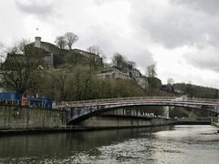 Sambre River bridges and Citadelle, Namur, Belgium (Paul McClure DC) Tags: belgium belgique wallonia wallonie ardennes feb2018 namur namen river sambre castle scenery architecture historic