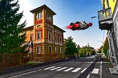 Fast moving service (Marco Trovò) Tags: marcotrovò hdr canoneos5d casteggio pavia italia italy city città strada street edificio building