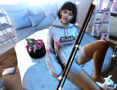 dont mess bby (UGLLYDUCKLING Resident) Tags: secondlife sl avatar avi girl brunette virtual world rebel mess hoodie lazy room home ugllyduckling blogger light night maitreya genus scandalize reign rouly fashion style ootd lyrium evie equal10
