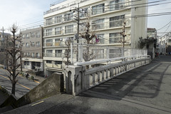 Tokyo.目黒区東山 鴻之巣橋 (iwagami.t) Tags: iwagamitetsuo fujifilm fuji xt1 xf14mm japan tokyo city town urban street bridge building apartment 201902
