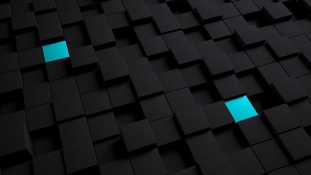 Обои кубы, структура, черный, голубой картинки на рабочий стол, фото скачать бесплатно