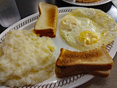Grits, Toast And Eggs. (dccradio) Tags: myrtlebeach sc southcarolina horrycounty food eat meal breakfast lunch dinner supper latenightsnack wafflehouse plate restaurant february winter tuesday tuesdaynight night evening goodnight goodevening tuesdayevening grits toast bread overeasy eggs samsung galaxy smj727v j7v cellphone cellphonepicture inside indoor indoors