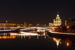 Night Moscow (gubanov77) Tags: night city urban cityscape moscow russia bridge building capitalcity houseonkotelnicheskayaembankment krasnokholmskayaembankment lighting light longexposure moscowphotography moscowskyscrapers moskvariver river water nightlight nightreflection reflection bolshoykrasnokholmskybridge