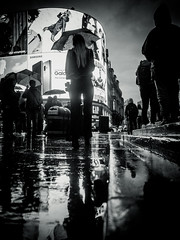 Influence (christianbrauner15) Tags: light reflections rain commercials london street blackandwhite lumix gh4
