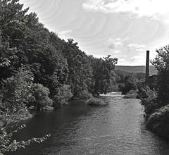 Housatonic River - B&W (RockN) Tags: housatonicriver river august2018 bw massachusetts newengland lee