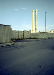 Monopoli, Italy. (wojszyca) Tags: fuji gsw680iii 6x8 120 mediumformat fujinon sw 65mm cinestill 50d epson v800 city urban industrial street decay postindustrial chimney monopoli italy