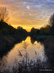Autumn Sunset (iPhone Fotograaf) Tags: autumn clouds landscape sunset water groningen iphone8plus dutch sky reflection