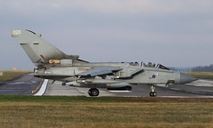 Off on a mission (Treflyn) Tags: royal air force panavia tornado gr4 za449 020 runway 01 raf marham aircraft photographs special tail photographer wave ready depart mission