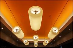 Lichtinstallation (geka_photo) Tags: gekaphoto hamburg deutschland mall shoppingcenter hamburgermeile lampen licht orange