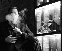 "Shanghai - ""The Gangster"" (cnmark) Tags: shanghai china xintiandi french concession entertainment fashion bar restaurant lifestyle portrait window smoke cigar mobster gangster night light nacht nachtaufnahme noche nuit notte noite 上海 中国 新天地 卢湾区 石库门 ©allrightsreserved"