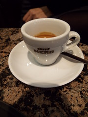 Cafe Nero in Belfast city centre (sean and nina) Tags: coffee kava cafe caffe drink cafeine espresso expresso cup white nero saucer spoon belfast christmas december 2018 northern ireland north eire irish indoor inside table