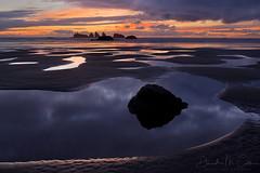 Pools (David M. Cobb) Tags: arch arches breaker bandon beach coast coastline shore shoreline oregon or oregoncoast pacificocean sea rocky water wave seastacks sunset usa