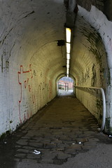 "The Tunnel Of Dispair ""Explored"" (Derbyshire Harrier) Tags: manchester city rochdalecanal march spring 2019 tunnel cobbles grim urban graffiti arch explore explored"