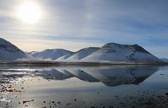 Fjöll (hó) Tags: mountains snæfellsnes winter snow landscape reflection sea sun iceland march 2019 sky clouds
