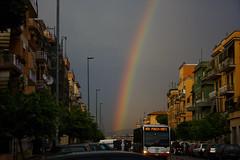 arcobaleno a centocelle (duegnazio) Tags: italia italy lazio roma rome duegnazio canon40d centocelle arcobaleno rainbow strada street cielo sky