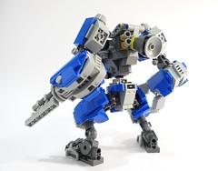Benny LR Mech Suit 02 (chubbybots) Tags: lego mech mechsuit benny blue robot