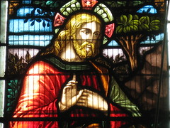 Detail of the John Kane Smyth Memorial Window by Ferguson and Urie; the Former Saint George's Presbyterian Church - Chapel Street, St Kilda East (raaen99) Tags: fergusonandurie fergusonanduriestainedglass fergusonurie fergusonuriestainedglass jesus malesaint johnkanesmyth johnkanesmythmemorial johnkanesmythmemorialwindow american starsandstripes americanflag victorianstainedglass nineteenthcenturystainedglass 1890s 1880s saintgeorgespresbyterianchurch saintgeorgesunitingchurch saintgeorgeschurch saintgeorgesstkildaeast saintgeorgeseaststkilda stgeorgespresbyterianchurch stgeorgesunitingchurch stgeorgeschurch stgeorgesstkildaeast stgeorgeseaststkilda unitingchurch presbyterianchurch presbyterian eaststkilda stkildaeast chapelstreet chapelst church placeofworship religion religiousbuilding religious melbourne nineteenthcentury victorian victoriana 19thcentury victoria australia gothicrevivalarchitecture gothicarchitecture gothicrevivalchurch gothicchurch gothicbuilding gothicrevivalbuilding ecclesiastical gothicrevivalstyle gothicstyle architecturallydesigned albertpurchas architecture building window stainedglass stainedglasswindow lancet lancetwindow detail bible biblical quote biblicalquote lifeofjesus settlementaboutthetributemoney interviewwiththerichyoungruler