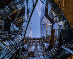 Reflections (Sam Codrington) Tags: onenewchange london cityoflondon reflection staircase buildings stairwell sky glass architecture england unitedkingdom gb