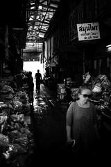 Lost in Bangkok (parenthesedemparenthese@yahoo.com) Tags: dem alone bn backlighting bangkok femme hiver lost monochrome nb noiretblanc silhouette street thaïland thaïlande woman blackandwhite blancoynegro blur bnw byn canon600d ef24mmf28 inbetwen indoor loneliness market seule streetphotography
