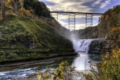 Letchworth Upper Falls 2015 (John Hoadley) Tags: waterfalls letchworthstatepark newyork usa october 2015 canon 7dmarkii hdr 1740 f20