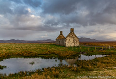 Late afternoon at Moine House (sarahOphoto) Tags: 6d britain canon great highlands kingdom landscape scotland uk united house derelict ruin refuge mountains warm light nature reflection travel tourist clouds moody moine building water lairg sutherland