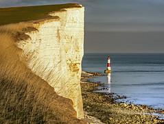 Beachy Head (niloc's pic's) Tags: beachyhead lighthouse cliffs sea sky chalk beach rocks reflections grass eastsussex southdowns panasonic lumix dmcgh4r