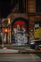 Graffiti at Night - NYC (ChrisGoldNY) Tags: sonya7rii sonyimages sonyalpha forsale licensing chrisgoldberg chrisgoldny chrisgoldphoto bookcover albumcover nyc newyork newyorkcity hallenge challengefactory challengewinners graffiti street art streetart red brick urban night soho houston manhattan