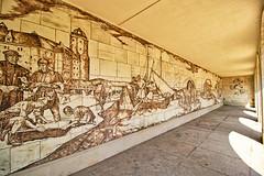Dresden - Augustusbrücke, Keramik-Sgraffito (www.nbfotos.de) Tags: dresden augustusbrücke keramiksgraffito sgraffito elbschifffahrt hansnadler sachsen