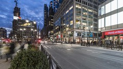 Herald Square Pan TL 011319 UHD with music (Michael.Lee.Pics.NYC) Tags: newyork heraldsquare night timelapse panning twilight bluehour macys shopping manhattanmall hm jcp cars traffic pedestrians sixthavenue bankofamericatower street sony a7rm2 voigtlanderheliar15mmf45 syrpgenie2