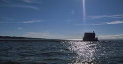022663 Recharging (David G. Hoffman) Tags: panorama pier lake lakemichigan lighthouse clouds channel