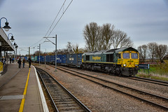 66588 - Ely - 12/01/19. (TRphotography04) Tags: freightliner 66588 passes ely haling 0951 leeds flt ipswich ss