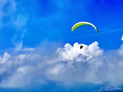 Over the Alps (Haytham M.) Tags: outdoor outdoors blue clear windy alps clouds sky venture skydiving thealps france