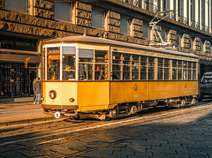 THE REAL LIFE (Jeton Bajrami) Tags: tram perfect art orange quadrilatera milano lombardia old 1860 oldtram city sony alpha a7mkii a7ii