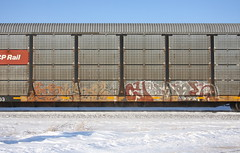 Erupto/Veks (quiet-silence) Tags: graffiti graff freight fr8 train railroad railcar art erupto veks a2m autorack cp cprail