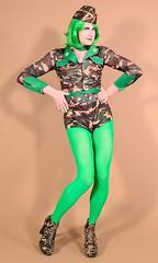 126H6L (klarissakrass) Tags: militarycostumes costume highheels booties heels sexyboots sexymilitary tights legfashion sexylegs tranny sexyuniform crossdress transgender crossplay nylons jeffreycampbell leotard platformheels pinup