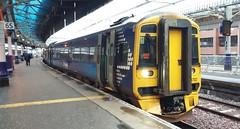 Aberdeen to Inverness, Aberdeen Railway Station, Dec 2018 (allanmaciver) Tags: scotrail abellio train travel journey ticket yellow blue aberdeen railway station lights north east allanmaciver