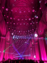 Colorful Light Display at National Cathedral (swanson.matt) Tags: laserlight lights lightshow music dance prom cathedral sanctuary church disco discoball mirrorball smokemachine color colorful led lighting party dj washington dc