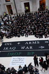 British Museum - No War, No Warming 16th Feb 2019 (The Weekly Bull) Tags: bp bpornotbp britishmuseum britishpetroleum iraq london uk climatechange colonialism demonstration environment fossilfuel globalwarming greenwashing lobbying oil plunder protest sponsorship war