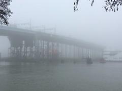 Hisingsbron (rotabaga) Tags: sverige sweden göteborg gothenburg iphone dimma fog