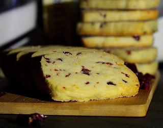 Cranbeery & Orange Shortbread Cookies