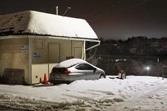 Insight (Curtis Gregory Perry) Tags: pullman washington honda insight car hybrid auto automobile snow winter night longexposure nikon d810 parking lot automóvil coche carro vehículo مركبة veículo fahrzeug automobil