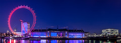 LONDON EYE (AaronCarterUk) Tags: london londonist england nightscape uk nightphotography travel night skyline bridge river londonbridge reflections city sky building water people skyscraper tower