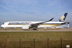 9V-SMP (globalpics images) Tags: 9vsmp singapore singaporeairlines airbus airbusa350 a350900 jet airliner av8 avgeek aviation takeoff runway man manchester egcc