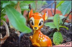 Bambi ~01 (Orphen 5) Tags: disney bambi disneybambi disneybambifigurine bambifigurine flower bambiphotoclip bambifigurineprimark bambiprimark primark london tumblr cute