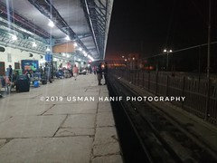 Faisalabad Railway Station (mAAn.Usman) Tags: pakistan railway train station faisalabad flower photography fav getty images usman hanif night clean line maan explore