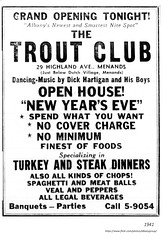 1941   opening of Trout club  restaurant  29 Highland ave menands (albany group archive) Tags: 1940s new years eve old albany ny vintage photos picture photo photograph history historic historical