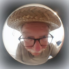 With a hat (Eric.Ray) Tags: hat portrait arms length square circle fisheye wah cellphone selfie self cutie