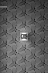Tapetenwechsel I (konicus) Tags: wall wallpaper tapete mono monochrom monochrome schwarzweis bw blackwhite konicus lampe wandlampe leuchte walllamp spiegel mirror fischauge fisheye treppenhaus staircase stairwell stairs selfie fujifilm xf10